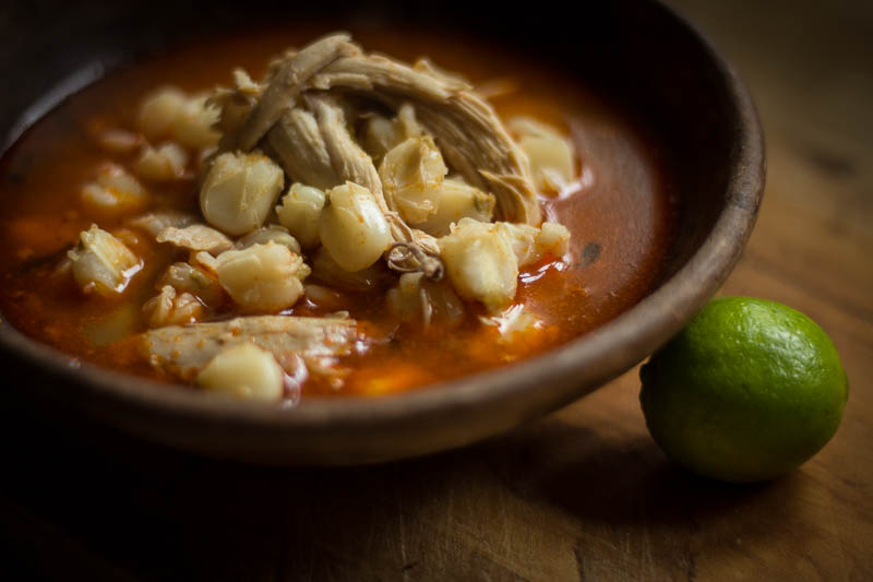 Posole made with Rancho Gordo Prepared Hominy